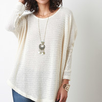 Oversized Layering High-Low Dolman Knit Sweater