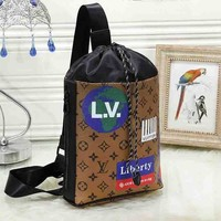 LV hot selling printed color shopping bag fashionable lady casual binding bucket bag #3