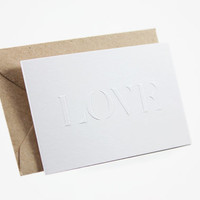 PPPAPER - fold greeting card» love»