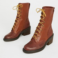 Steel Lace-Up Boot