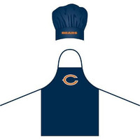 Chicago Bears NFL Barbeque Apron and Chef's Hat
