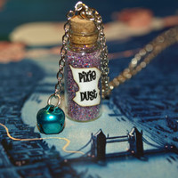Pixie Dust Magical Necklace with a Tinkling Bell Charm Faith Trust and Pixie Dust Disney