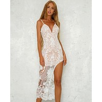 Night Under the Stars Lace Overlay Dress in More Colors