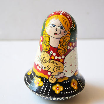 Russian matryoshka with internal bell