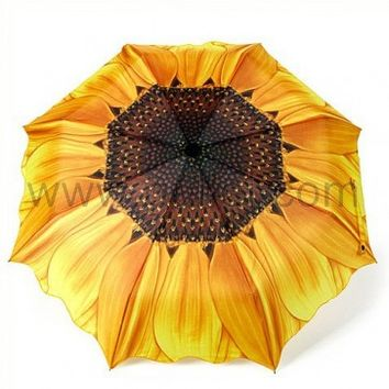 Unusual Christmas Gift Sunflower Design Umbrella