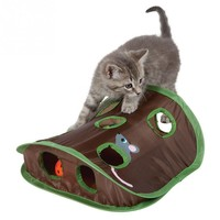 Fantastic Nine-hole Mouse Hole with Bell Ball Cat Educational Toy Cat Pet Supplies