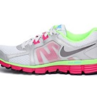 Nike Womens Dual Fusion St 2 Platinum Fireberry 454240-020