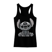 Stitch, Disney Inspired, Women's Black Racerback Tank Top