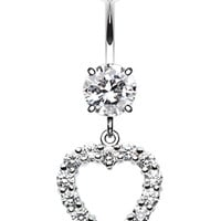 Heart Affection Belly Button Ring