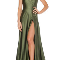 Olivia Evening Gown - Olive