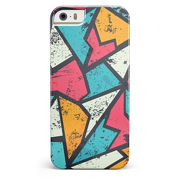 Blue, Orange, and Red Zig Zags iPhone 5/5s or SE INK-Fuzed Case