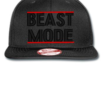 beast mode Bucket Hat,embroidery - New Era Flat Bill Snapback Cap