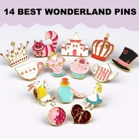 Alice in Wonderland Enamel Pins