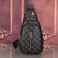 Louis Vuitton LV Fashion Chest Bag Leather Shoulder Bag Crossbody Satchel Messenger Bag