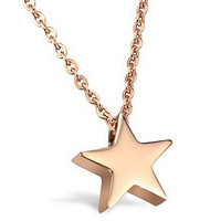 Italina Elegant Lady Star Necklace Silver & Gold-Color Fine Chain Jewelry Five-pointed Star Pendant Necklace For Women Rihanna