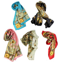 New Pattern Large Square Scarf Silk Head Scarves Shawl Wrap Kerchief Zina