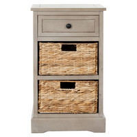 Kendall Side Storage Table, Taupe, Standard Side Tables