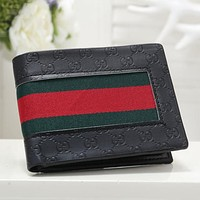 GG classic embossed letters stitching color clamshell wallet key case Bag #1