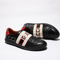 Gucci Men Fashion Casual Sports Shoes Black