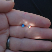 Opal Surgical Steel Stud Earring. Perfect for Helix and Cartilage Piercings.