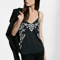 Beaded And Sequined Black Strappy Cami from EXPRESS