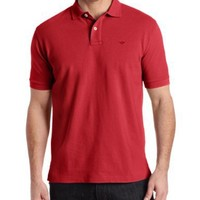 Dockers Men's Pique Polo Solid Shirt, Rio Red, X-Large