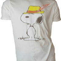 Peanuts Snoopy in A Fedora Shirt by Junk Food available online from Old School Tees