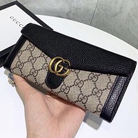 GUCCI Fashion New More Letter Print Leather Wallet Purse Handbag