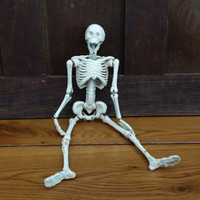 Vintage Cast Iron Articulating Skeleton Great Halloween Decor