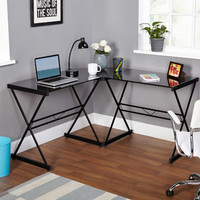 Walmart: Atrium Metal and Glass L-shaped Computer Desk, Multiple Colors