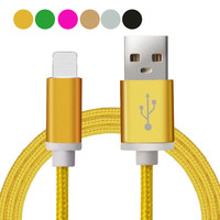1.5M Luxury Gold USB Cable Charger For iPhone 5 5S 6S 6 6 plus IOS Data accessories