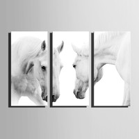 3 Piece Canvas Painting Module Animal Horse Painting Wall Art Modern Decorative Wall Picture Living Room Bedroom Home Decoration