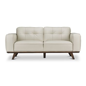 Normandie Leather Loveseat