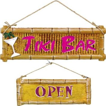 Molded Plastic Tiki Bar Signs- Party City
