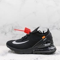 Nike Air Max 270 X Off-white Flyknit Black - Best Deal Online