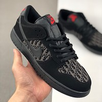 Dior x Nike Dunk Low SB hot sale color matching low-cut couple sneakers Shoes