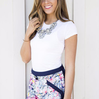 Palm Beach Gardens Navy Floral Shorts