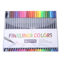 0,4 mm 24 fineliner pens color fineliners set markers quality colorful marker pen art painting Fine professional