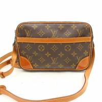 Authentic Louis Vuitton Shoulder Bag Trocadero 23 M51276 Browns Monogram 16918