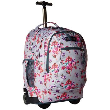 JanSport Driver 8 Rolling Backpack - Wheeled Travel Bag with 15-Inch Laptop Sleeve Amz Exclusive: Primavera Fields
