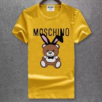 moschino Women Man Fashion Simple Shirt Top Tee-9