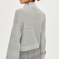 Twist Back Cuff Sweater - New In Fashion - New In