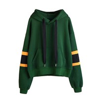 GREEN HOOD/ YELLOW STRIPE