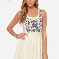 LULUS Exclusive Play the Field Cream Dress