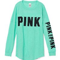 Open Back Varsity Crew Tee - PINK - Victoria's Secret