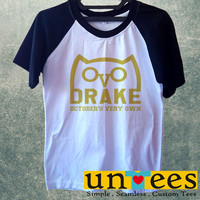 Drizzy Drake Octobers Very Own Ovo Ovoxo Owl Logo Short Raglan Sleeves T-shirt