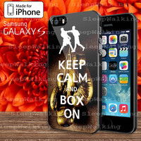 Keep Calm Wwe Boxing Gloves Case for Your iphone 4/4S/5/5S/5C and Samsung Galaxy S3/S4/S5