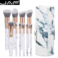 JAF 10pcs Marble Makeup Brush with Case J1024-D