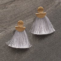 Athena Fringe Earrings - Silver