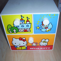Vintage 1976 Sanrio Hello Kitty Storage Box Cube for Jewelry Fairy Tale Box